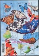 France - Les Papillons / Le Feuillet YT F4498 Obl. Cachet Rond Manuel - Blocs & Feuillets