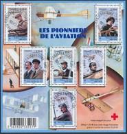 France - Les Pionniers De L'Aviations / Le Feuillet YT F4504 Obl. Cachet Rond Manuel - Blocs & Feuillets