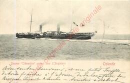 Steamer Clémentine Partant Pour L'Angleterre .  OSTENDE . - Oostende