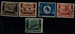 ROMANIA 1951 WINTER  SPORT MI No 1247-51 USED VF!! - 1948-.... Repúblicas