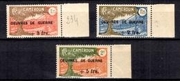 Cameroun France Libre Maury N° 191/193 Neufs ** MNH. B/TB. A Saisir! - Cameroun (1915-1959)
