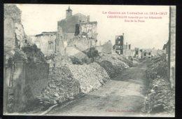 CPA Neuve 54 GERBEVILLER Incendié Par Les Allemands Rue De La Poste - Gerbeviller