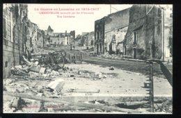 CPA Neuve 54 GERBEVILLER Incendié Par Les Allemands Rue Gambetta - Gerbeviller