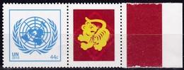 UNO-New York, 2010, 1228,  MNH **, Grußmarke: Chinesische Tierkreiszeichen - Jahr Des Tigers. - New York -  VN Hauptquartier