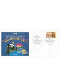 France Enveloppe Souvenir 3ème Fête De L'Eau - Compagnie Nat. Du Rhone - Lyon (69) - Timbre 2861 - Briefe U. Dokumente