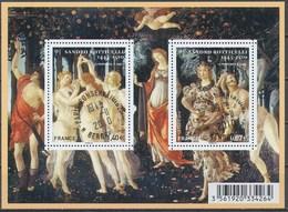 France - Tableaux De Botticelli / Le Feuillet YT F4518 Obl. Cachet Rond Manuel - Blocs & Feuillets