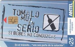URUGUAY - Desde Un Teléfono Público Al Mundo, TC 501a, 25 $ , Tirage 100.000, Used - Uruguay