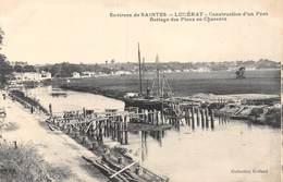 PIE-Z-JMT4-19-6264 :  LUCERAT. CONSTRUCTION D'UN PONT. BATTAGE DES PIEUX. - France