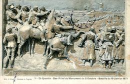 CPA - SAINT-QUENTIN - BAS-RELIEF DU MONUMENT DU 8 OCTOBRE - Saint Quentin