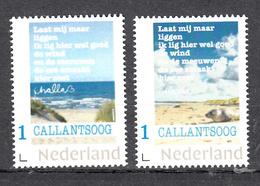 Nederland  Persoonlijke Zegel: Callantsoog 2 Postzegels Van Kunstenaar Challa, Met Zeehond En  Teksten , Gedichten - Periodo 2013-... (Willem-Alexander)