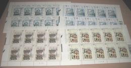 3426/29** Shophouses In Singapore - Singapour MNH (4 Feuilles) Planches 3 - 3 - 3 - 3  Oude Winkels (Anciens Magasins) - Kleinbögen