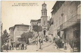 PENNES-MIRABEAU (13) - La Montée De L'Eglise Et La Poste. Attelage. Editeur I.P., N° 8. - France