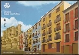 2018-ED. 5256 H.B. - COMPLETA- Patrimonio Artístico. Cuenca. Casas De Colores - DESPLEGABLE -USADO- - 1931-Hoy: 2ª República - ... Juan Carlos I
