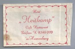 Suikerzakje.- 's-HEERENBERG. HOTEL - HEITKAMP -. Café Restaurant. Suiker Sucre Zucchero Zucker Sugar - Suiker
