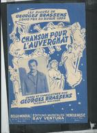 """Partition Musicale: Georges Brassens """"chanson Pour L'auvergnat"""" - Musique & Instruments"""