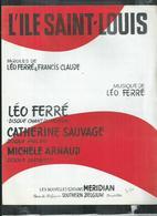 """Partition Musicale: Léo Ferré. """"l'ile Saint Louis"""" - Liederbücher"""