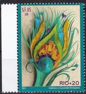 UNO-New York, 2012, 1308, MNH **, Konferenz Der Vereinten Nationen über Nachhaltige Entwicklung (UNCSD), Rio+20 - New York -  VN Hauptquartier