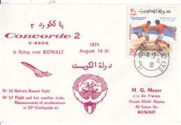Concorde Is Flying Over Kuwait ,1974 - Koweït