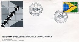BRASIL 1992 FDC POGRAMA BRASILEIRO DA QUALIDADE E PRODUTIVIDADE - NTVG. - Brazilië