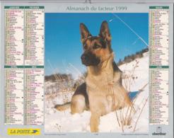Calendrier Almanach Du Facteur 1999 - COTE D'OR (21)  - Berger Allemand / Chevaux - Grand Format : 1991-00