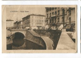 Livorno Italia Piazza Cavour Cartolina Postale Carte Postale Ancienne CPA Vintage Old Postcard - Livorno