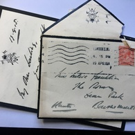 GB George V Mourning Entire 1915 Calvary Club Envelope And Letter Heading - 1902-1951 (Kings)
