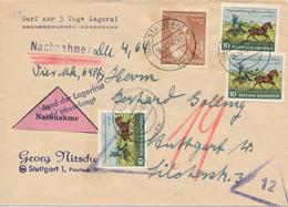 STUTTGART  -  1952 ,   Elizabeth Fry , 100 Jahre Briefmarken Thurn Und Taxis  -  Nachnahme - BRD