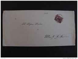 """4003 ITALIA Regno-1878-""""Ondine"""" C. 2 Su 10,00 BRESCIA>MONTE SAN SAVINO (descrizione) - 1861-78 Vittorio Emanuele II"""