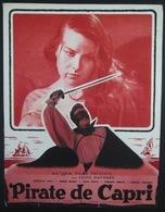 Plaquette Publicitaire De Astoria Films (1949)  De Pirate De Capri - Publicidad