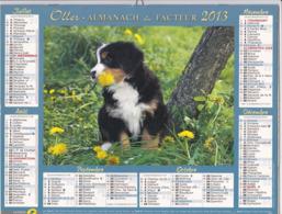 Calendrier Almanach Du Facteur 2013 - COTE D'OR (21)  - Chien - Calendars