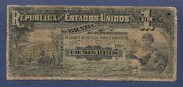 Brazil Brasil 1 Mil Reis 1891 E. 07 P3b First Issue BC Fine - Brasil
