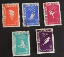 """ROUMANIE  YT 1473/1477 OBLITÉRÉS"""" JEUX OLYMPIQUES DE MELBOURNE"""" ANNÉE 1956 - 1948-.... Repúblicas"""