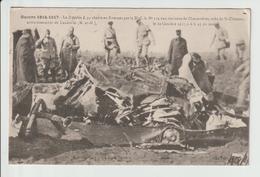 C.P.A  GUERRE 1914-1917 -- LE ZEPPELIN L. 44 ABATTU EN FLAMME PAR LA DCA N°174  AUX ENVIRON DE CHENEVIERES PRES DE ST CL - Francia