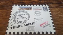 LOT 487093 TIMBRE DE COLONIE TAAF NEUF** LUXE CARNET DE VOYAGE BLOC - Französische Süd- Und Antarktisgebiete (TAAF)