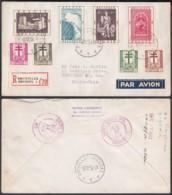 Belgique 1952 Cob900/7 Sur Lettre Par Avion Vers États-Unis De Bruxelles.............   (EB) DC6338 - Belgien