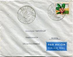 WALLIS-ET-FUTUNA LETTRE PAR AVION DEPART MATA-UTU 4-8-58 PREMIER JOUR POUR LA NOUVELLE-CALEDONIE - Covers & Documents