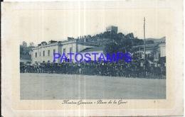128509 FRANCE MENTON SQUARE OF STATION TRAIN & AUTOMOBILE CAR POSTAL POSTCARD - Non Classés
