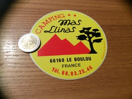 Autocollant, Sticker « CAMPING Mas Llinas - LE BOULOU (66)» - Autocollants