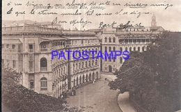 128512 ASIA INDIA BOMBAY ELPHINSTONE CIRCLE SOUTH SIDE CIRCULATED TO ITALY POSTAL POSTCARD - Inde