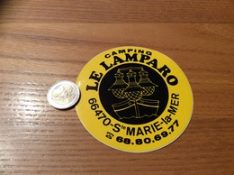 Autocollant, Sticker « CAMPING LE LAMPARO - Ste MARIE-la-MER (66) » - Autocollants