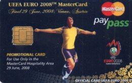 MASTERCARD PAYPASS - EUFA EURO 2008 PROMO CARD - TEST PROOF - Cartes De Crédit (expiration Min. 10 Ans)