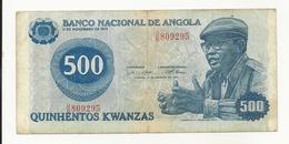 Angola 500 Kwanzas 1979 Perhaps VF - Angola