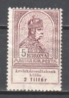 Hungary 1913 Mi 144 WM7 MLH (1) - Unused Stamps