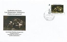 "SPAIN. COVER GOYA ENGRAVING. DISPARATES 9. ""TU SELLO"" - 1931-Hoy: 2ª República - ... Juan Carlos I"