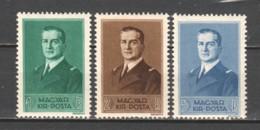 Hungary 1938 Mi 565-567 MNH - Ungarn