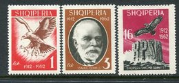 ALBANIA 1962 50th Anniversary Of Independence Perforated MNH / **.  Michel 709-11 - Albania
