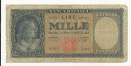 Italy 1000 Lire 1947 - [ 2] 1946-… : Républic