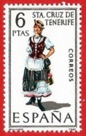 España. Spain. 1970. Santa Cruz De Tenerife. Trajes Regionales Regional Costumes - 1961-70 Nuevos & Fijasellos