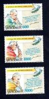 Francobolli Vaticano 1993  - Serie 3 Valori Nuovi - Vaticano