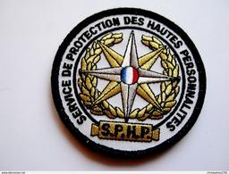 ECUSSON TISSUS PATCH POLICE NATIONALE SPHP SERVICE PROTECTION HAUTES PERSONNALITÉS ETAT EXCELLENT SUR VELCROS - Police